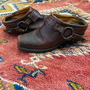 Vintage Frye Belted Harness Mules